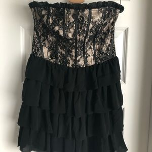 Ark & Co Lace and Ruffle Mini Dress
